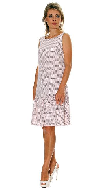 П 827 Платье FAMA штапель розовый горох