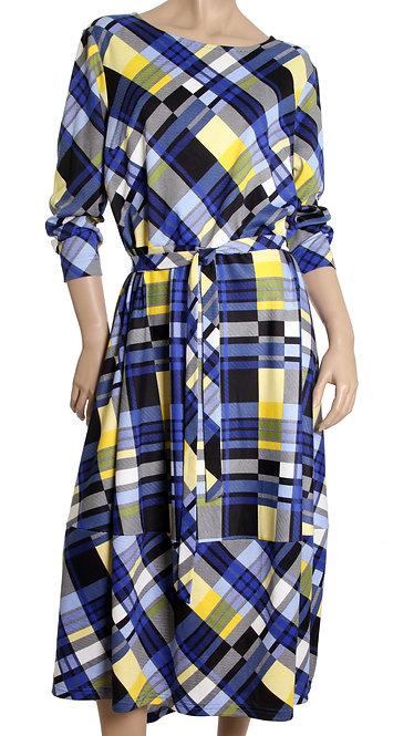 А 600 Платье Smi сине-желтое