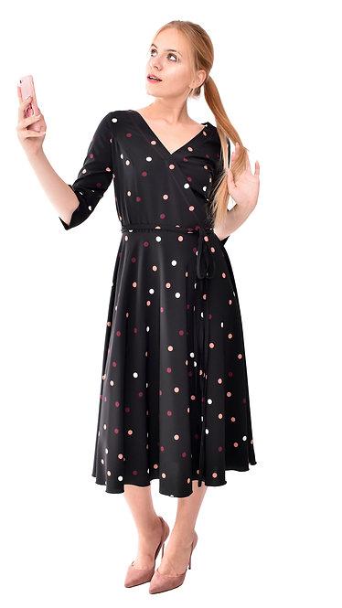 А 638 Платье Din черное