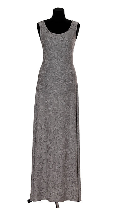 А 493/1 Платье PROZA длинн серебро