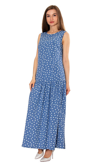 А 613 Платье BEL голубое