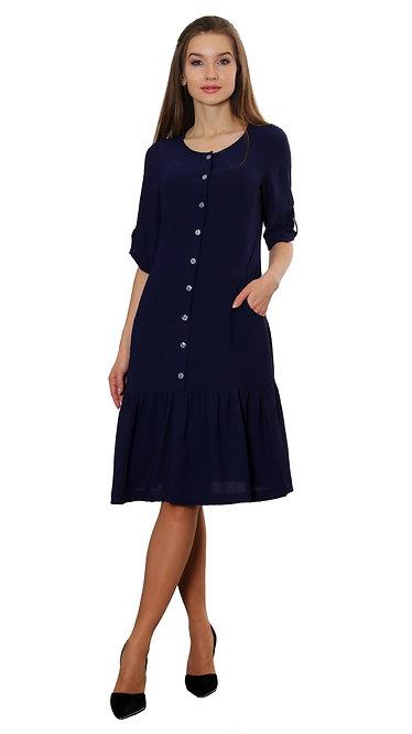 А 608 Платье Bali синий