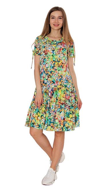 А 622 Платье ALTU желто-зеленый