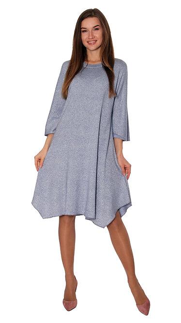 А 402/1 Платье ESKO люрекс голубой