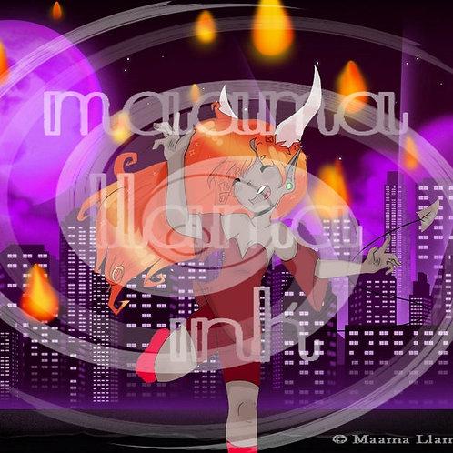 Sage (purple) Print