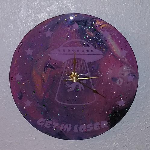 Alien Abduction Clock