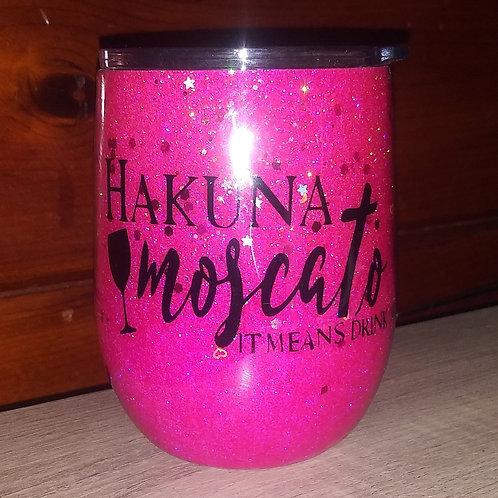 Hakuna Moscato Metal Wine Tumbler
