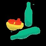 Illustrated Green Bottles
