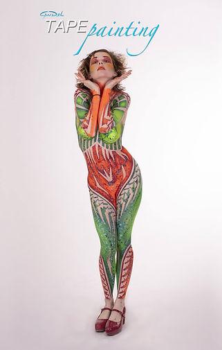 TAPE-PAINTING  Photographer : Yandel Artiste Model : Margo Ganassa