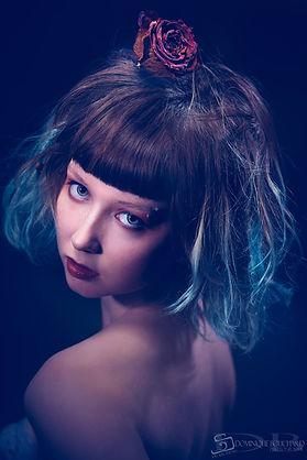 """Portrait """"BLUE TONES"""", by Dominic Bouchard"""