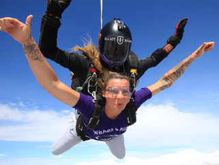 Lucy's Skydive for charity