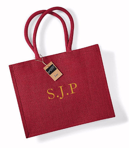 Personalised Jute Shopper Bag