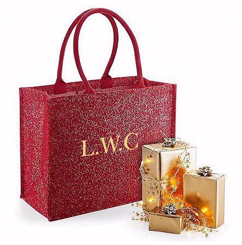 Personalised Shimmer Jute Gift Bag