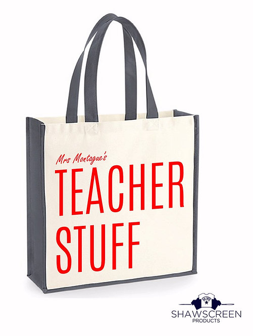 "Personalised ""Teacher's"" Tote Bag"