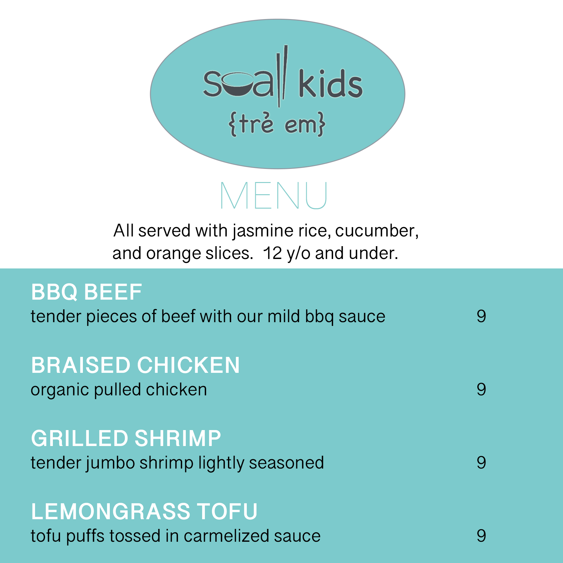 Kids Menu Big