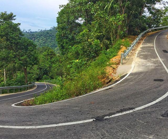 Steep road near Padang