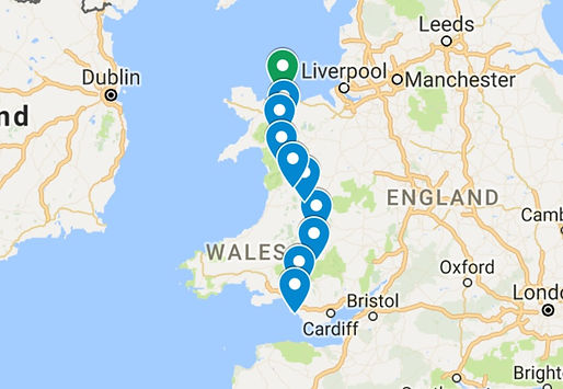 wales route map