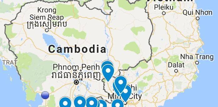 vietnam route map