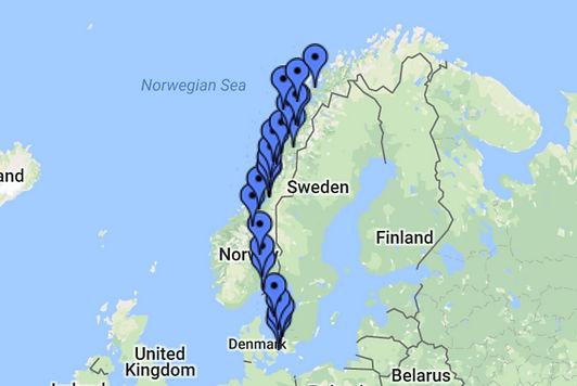 scandinavia route map