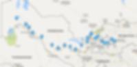 uzbekistan route map