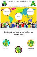 sticker book x3
