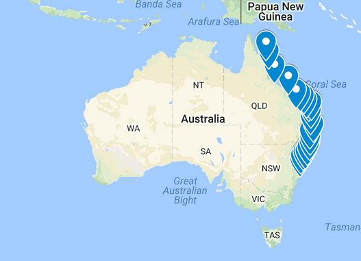 australia route map