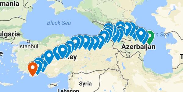caucasus route map
