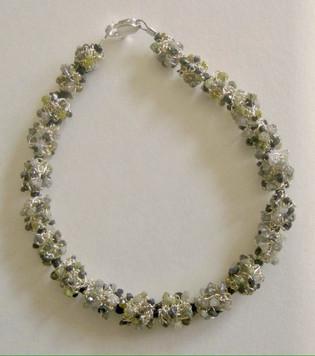Silver & Diamond Chip Bead Bracelet
