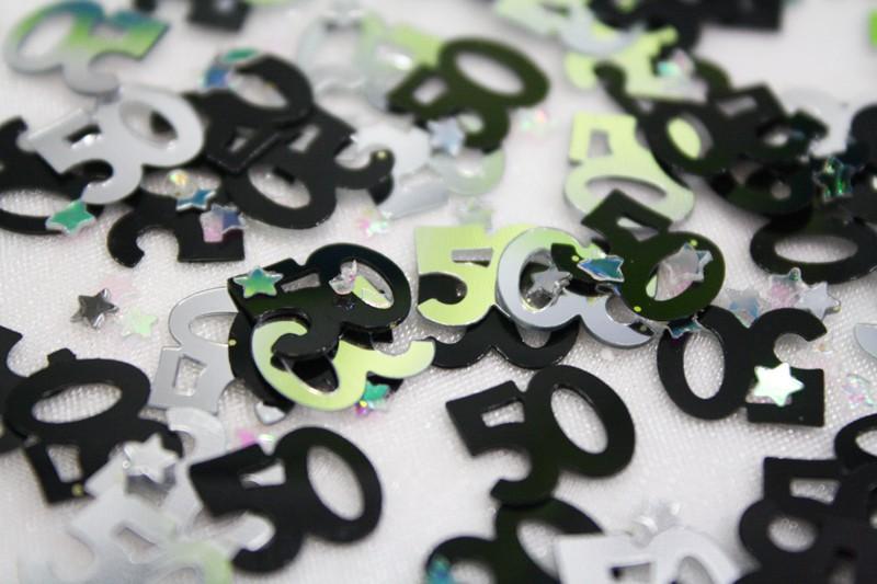 Anniversaire 50 ans noir et blanc gosupsneek - Deco de table anniversaire 50 ans ...