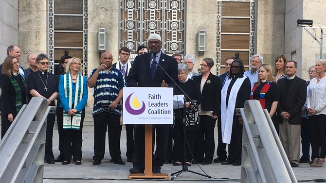 Faith Leaders' Coalition of Greater Houston Launches on Early Voting Day.