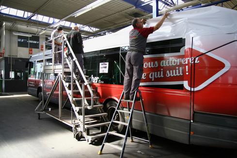 covering de bus