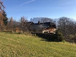 Bauernhof am Ritten mit Schlern