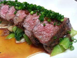 夢咲牛のステーキ
