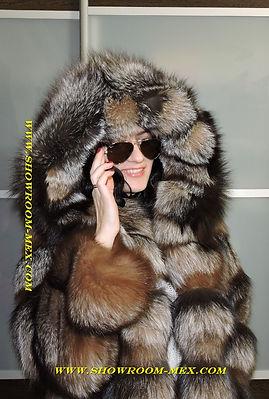 Шуба из лисы Кристал Кардинал 2017www.showroom-mex.com
