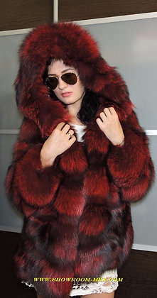 LUXURY RED FOX ROYAL FUR  поперечка