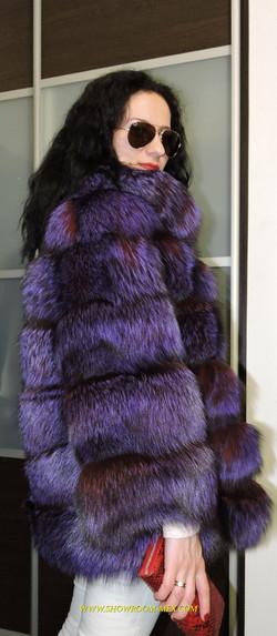 Шубы из лисы LUXURY ROYAL FUR COAT GREEN FOX 2016 NEW WOMAN FUR COAT  9 #.jpg