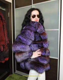 Шубы из лисы LUXURY ROYAL FUR COAT GREEN FOX 2016 NEW WOMAN FUR COAT  12 #.jpg
