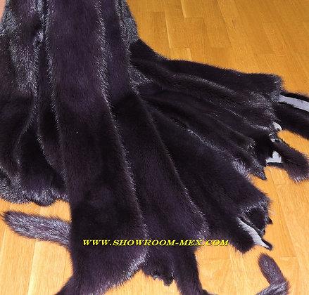 Шкуры норки цвет баклажан (SAGA Mink Fur )