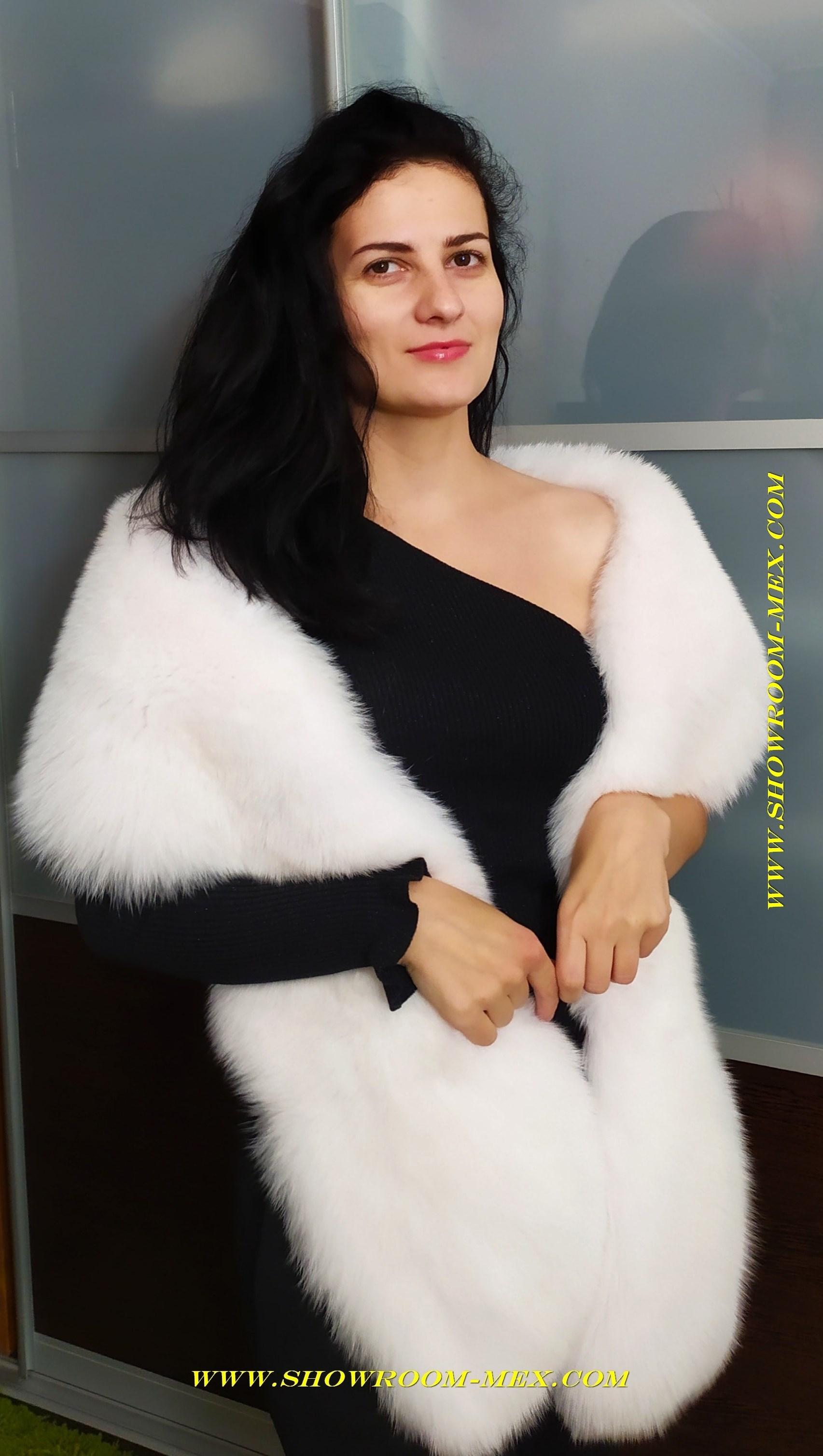 www.showroom-mex.com боа из белоснежного песца