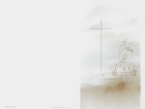 Kreuz mit Gräser-65231-4 - ab 10 Stück inkl. Druck