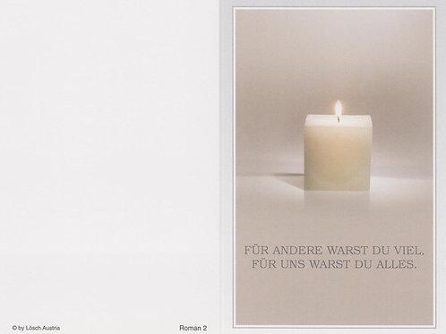 Kerze-Roman 2 - ab 10 Stück inkl. Druck