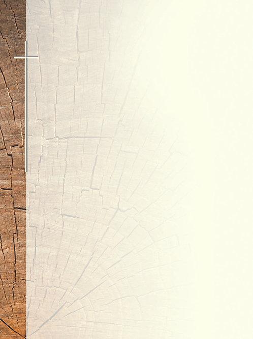 Baumstamm mit Kreuz-Josef10 - ab 10 Stück inkl. Druck