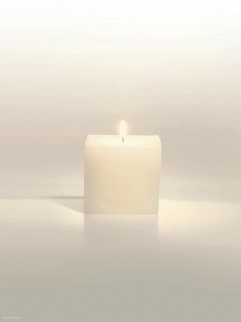 Kerze mittig-Roman20 - ab 10 Stück inkl. Druck
