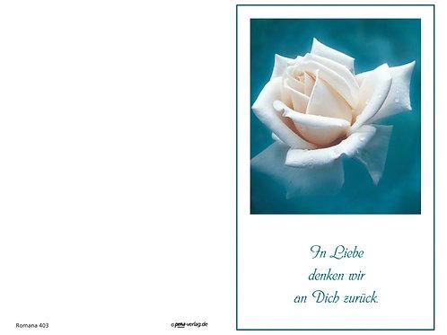 Weiße Rose-Romana403 - ab 10 Stück inkl. Druck