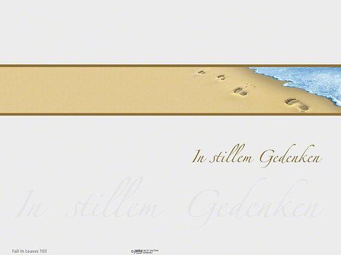 Spuren im Sand-FallinLeaves103 - ab 10 Stück inkl. Druck