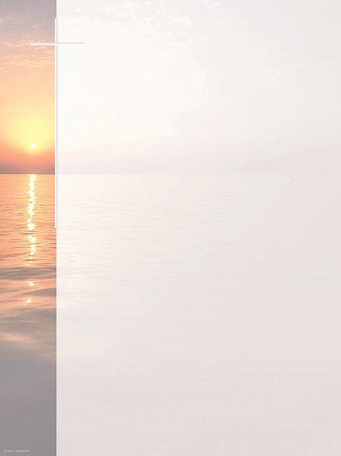 Sonnenuntergang am Meer-Abraham60 - ab 10 Stück inkl. Druck