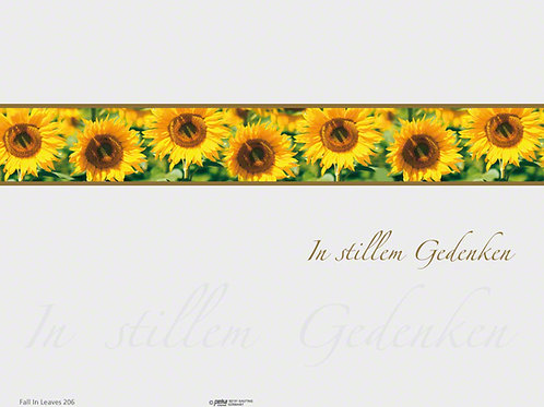 Sonnenblumen-FallinLeaves206 - ab 10 Stück inkl. Druck