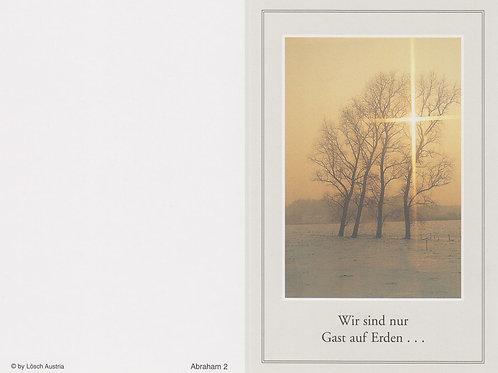Bäume im Sonnenuntergang-Abraham 2 - ab 10 Stück inkl. Druck
