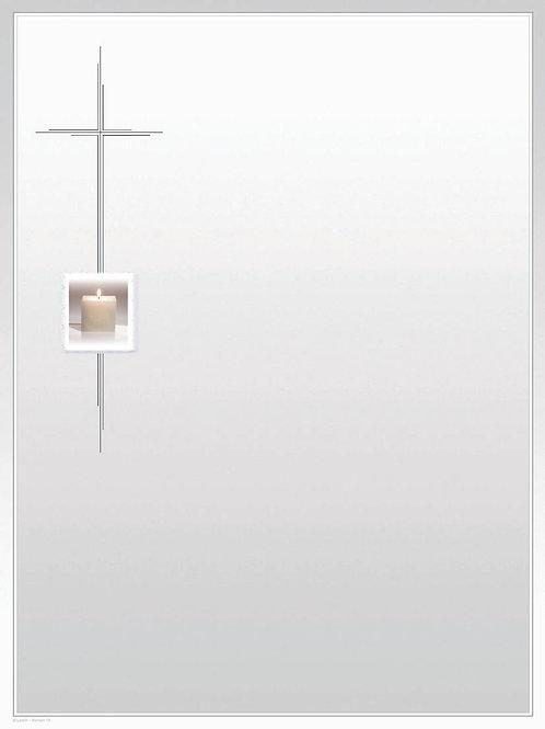 Kerze im Kreuz-Roman10 - ab 10 Stück inkl. Druck