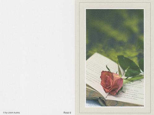 Rose 6 - ab 10 Stück inkl. Druck